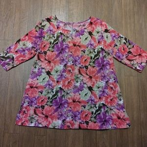 Just My Size Fabulous Floral Tunic 2X